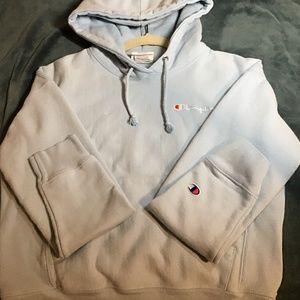 Sky blue champion hoodie - small